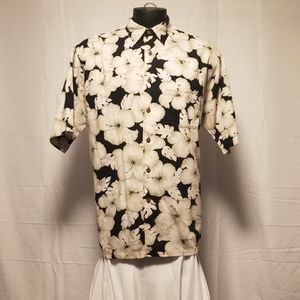 Nautica Mens Dress Shirt Floral Large